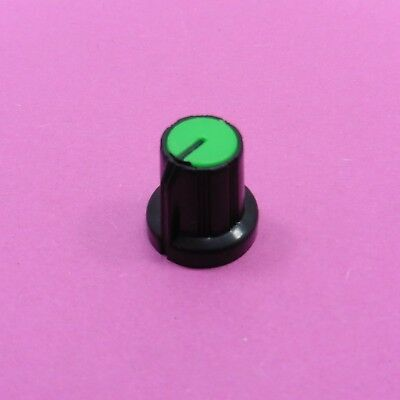 Green Plastic Knob Cap 6mm Shaft Hole Rotary Taper Control For Potentiometer