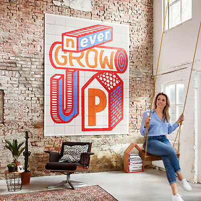 NEW IXXI Never Grow Up wall art (multiple sizes) by Until