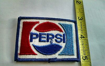 New Vintage Pepsi Cola Logo Embroidered Sew on Patch 2 7/8 X 2 NOS jacket