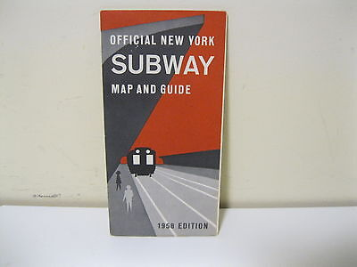 1958 - Official New York City Subway Map Nyc Transit Authority Mta Vintage Mint