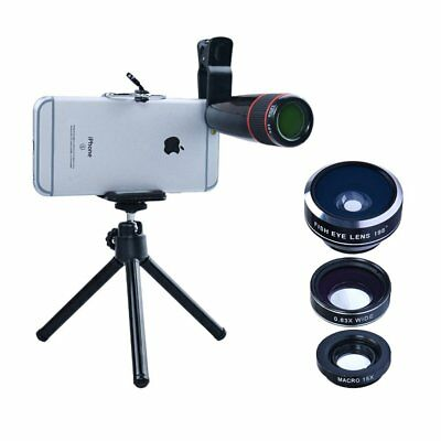 OpenBox Apexel 4 in 1 Camera Lens 12x Telephoto Lens/Fisheye/ Wide Angle + Macro