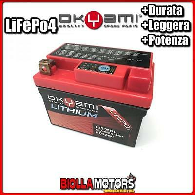 E07350 BATTERIA LITIO YTX5L-BS LiFePo4 LITX5L YTX5LBS MOTO SCOOTER QUAD CROSS