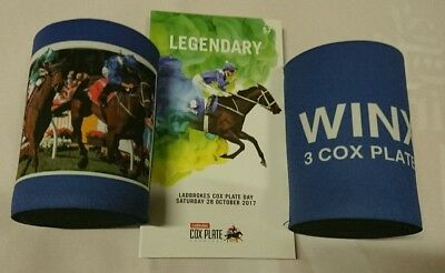 Winx 2017 Cox Plate Race Book And Winx 3 Cox Plates Stubby Holder