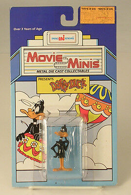 Daffy Duck Movie Minis Metal Die Cast Collectible Dated 1988 Unopened Package