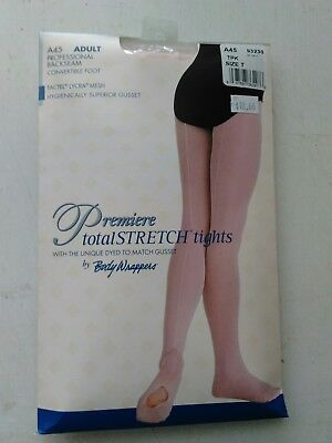 Body Wrappers A45 Women/'s Large Theatrical Pink Mesh Backseam Convertible Tights
