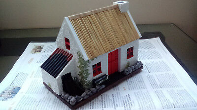Hand crafted thached cottage.