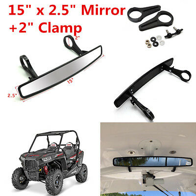 """UTV Wide Rear View Race Mirror With 2"""" Clamp For Polaris RZR XP1000 and XP4 1000"""