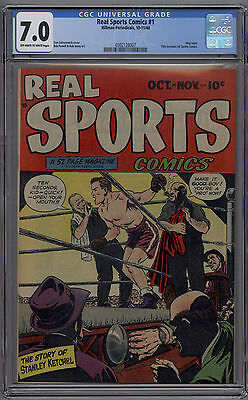Real Sports Comics # 1 CGC 7.0 1948 Bob Powell Title Becomes All Sports Comics