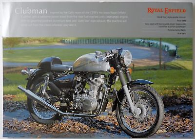 Royal Enfield Bullet 500cc Clubman Cafe Racer Sales Brochure