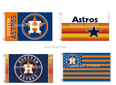 NEW! Houston Astros Flag 3ft x 5ft Man Cave Outdoor Tailgate 15+ Styles Gift
