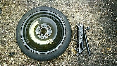 """Renault Clio 2006-2018 Space Saver 14 """" Spare Wheel And Tyre Free Jack Kit"""