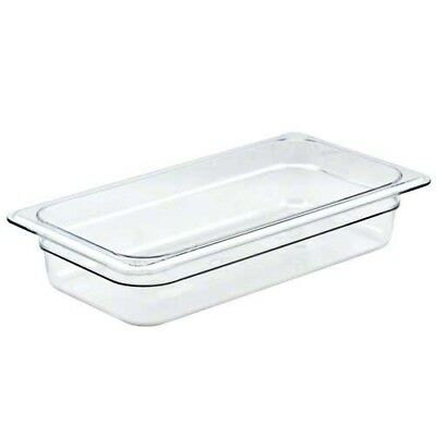 Cambro 32CW135 Camwear 1/3 Size 2.5in Deep Polycarbonate Food Pan