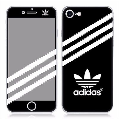 Black  Adidas Iphone 7 PVC Skin Decal sticker 4.7 inch Front and back