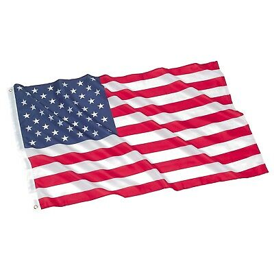 Heavy Duty US American Flag 3X5 FT Embroidered Stars Sewn Stripes Grommets Nylon
