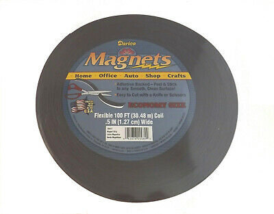 """Self Adhesive Roll Flexible Magnetic Strip Tape - 100 ft x 1/2"""" (Craft Magnets)"""