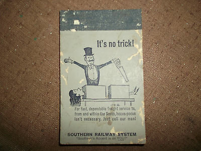 Collectible Vintage Railroad Advertising- Southern Railway System Note Pad- 1964