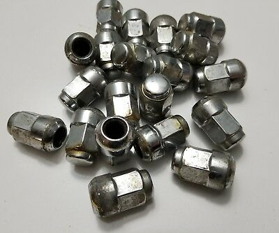 20-Used Factory OEM Rim-Wheel Lug Nuts Set for 03 Accord-12 x 1.5 mm Chrome OE *