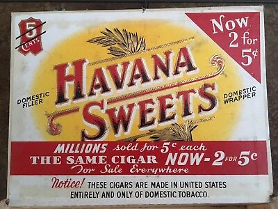 HAVANA SWEETS VINTAGE 1930's-40's  Cigar Box.  Collectors item.
