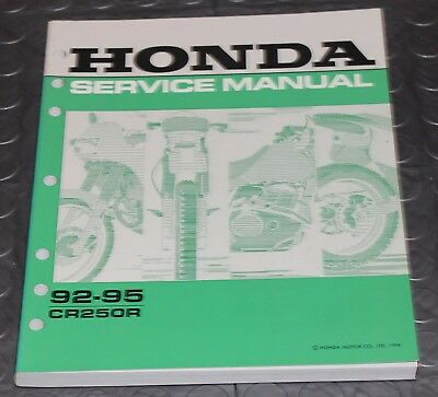 NOS OEM Honda Service Shop Manual NEW 92-95 CR250R CR 250 R