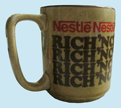 Nestle Rich N Creamy Hot Coco Mug Cup Vintage Made In Japan
