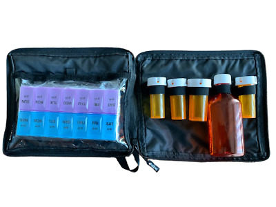 Travel size Prescription Medication Bag. Lockable Great for Baby medicine