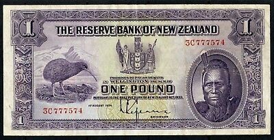 New Zealand 1 Pound 1934 VF Condition Crisp Paper !!!!!