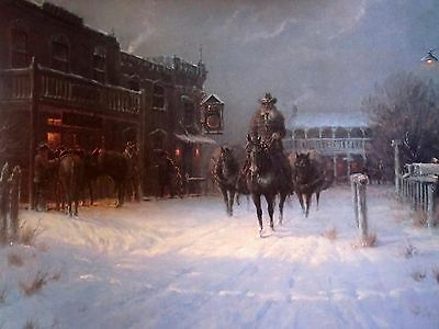 "G. Harvey Winters Eve print  signed & numbered  image size 22"" x 14.5"""