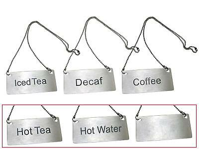 Update CS-ITE Stainless Steel Chain Sign 3.5in x 1.75in Iced Tea