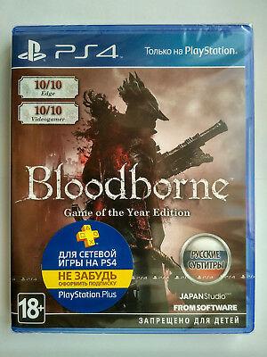 Bloodborne Game of the Year Edition PS4 PAL Brand New Factory Sealed