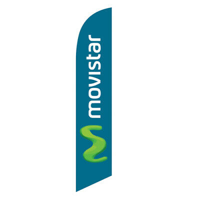 MOVISTAR Swooper Feather Banner Flag - Advertising FLAG ONLY -