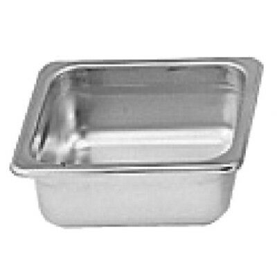 "Thunder Group Steam Table Pan 1/6 Size 2.5"" Deep 22 Gauge Stainless Steel"