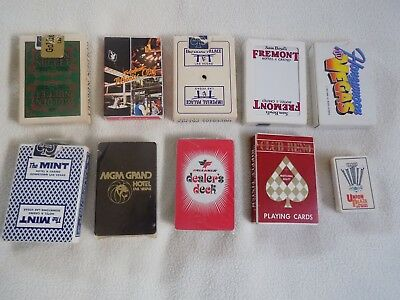 Vintage Casino Playing Cards Las Vegas 10 Different Decks Free Shipping