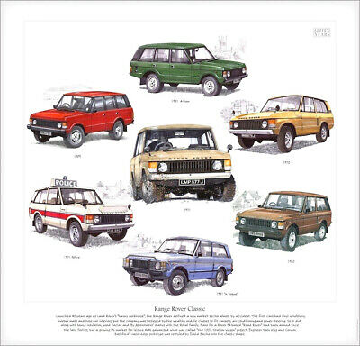 RANGE ROVER CLASSIC - Fine Art Print - In Vogue, Police & Four-Door model images