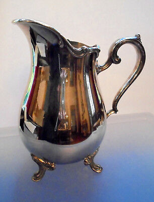 WEBSTER WILCOX Silverplate water pitcher JOANNE pattern 7217 IS INTERNATIONAL