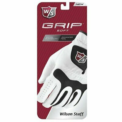 Wilson Staff Mens Grip Soft Synthetic Leather Golf Glove - Left Hand