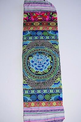 Yoga Mat Carry Bag With Shoulder Strap Embroidered handmade Thailand Free trade