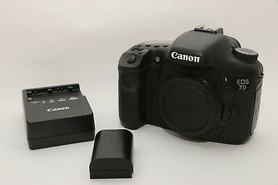 Canon EOS 7D Camera Body + 1 Canon Camera Battery with Charger and Pouch