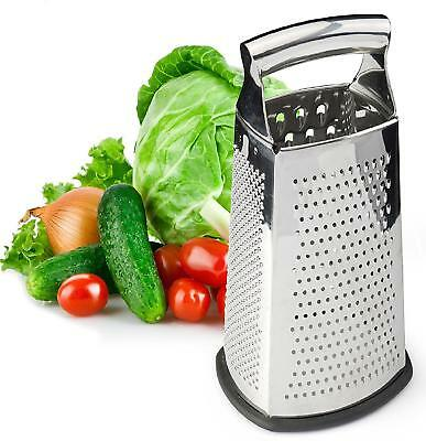 Multifunction 4-Sided Stainless Steel Box Cheese Carrot Food Grater Shredder