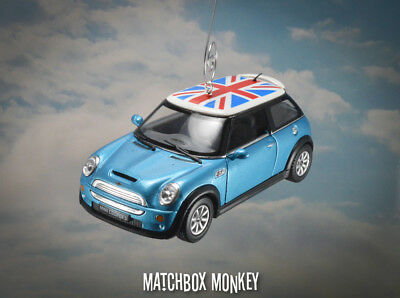 Deluxe Hard Top Union Jack Flag Austin Mini Cooper S Christmas