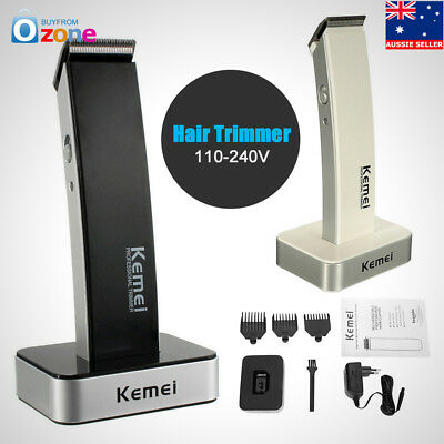 KEMEI Men Cordless Electric Rechargeable Hair Clipper Trimmer Beard Shaver Razor