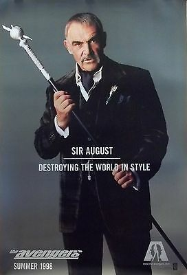 The Avengers Original S/S Sir August Advance Rolled Movie Poster 27x40 NEW 1998