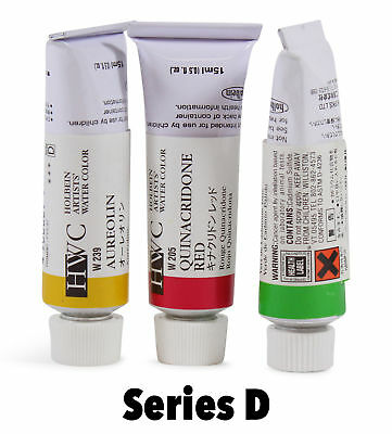 Holbein Artists' Watercolor Tubes Series D. Choose Your Colour By One.