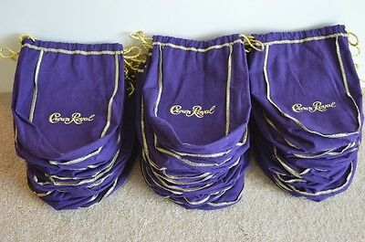 Lot Of 50 Crown Royal Purple Bags, Size 1L, NEW