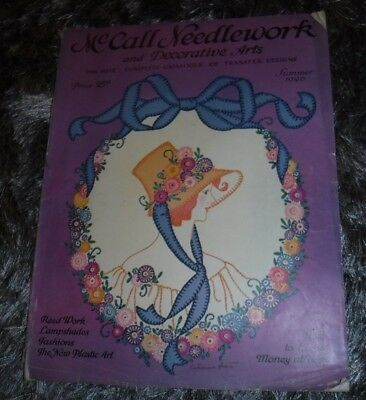 Mccall Needlework & Decorative Arts Summer 1926 Stitchery,embroidered,taffeta