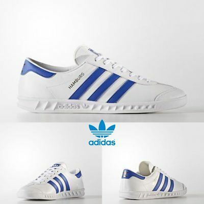 608fdbcc2 Adidas Original Hamburg Running Sneakers White Blue Gold BY9758 SZ 4-11  Limited