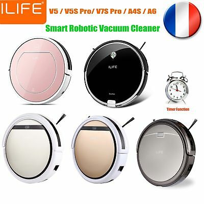 ILIFE V5S PRO Smart Aspirateur Cleaning Robot Sol Cleaner Auto Vacuum Microfiber