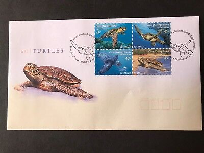 Cocos Island 2002 Sea Turtles First Day Cover Set 4 Stamps