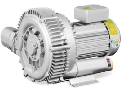 Regenerative Blower HRB-302 3-Phase 1.5KW, 2.0HP Ring Blower Vacuum & Pressure
