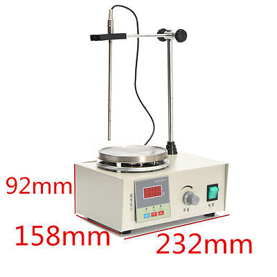 Temperature Control 85-2 Magnetic Stirrer w/ Heating Hotplate Mixer Set 220V