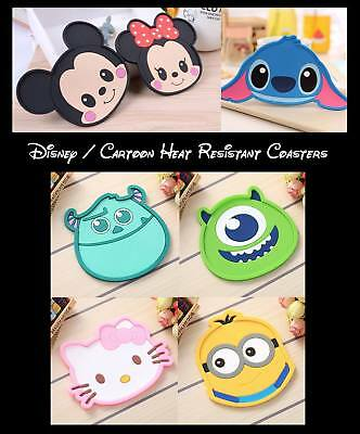 Disney, Stitch, Mickey, Minnie Mouse Heat Resistant Coasters - Fast & Free Post